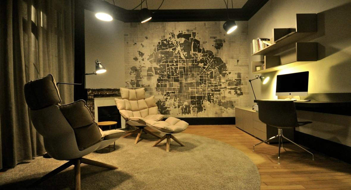 maison de maitre renovee interieur. Black Bedroom Furniture Sets. Home Design Ideas